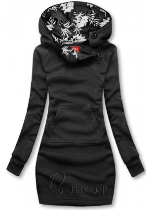 Čierna mikina s obliekaním cez hlavu