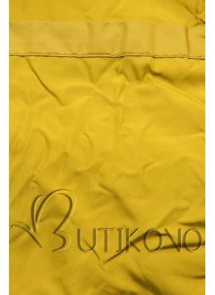 Horčicovožltá prešívaná bunda na jeseň/zimu