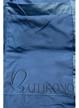 Jeans modrá lesklá zimná bunda