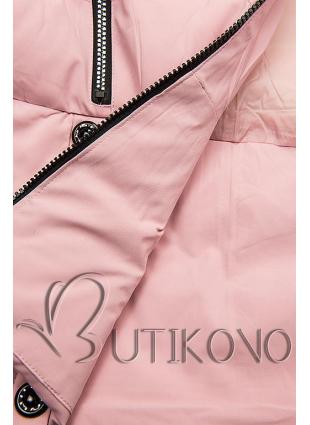 Ružová prešívaná bunda na zimu