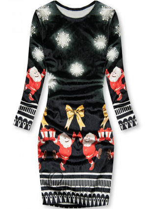 Čierne šaty Santa