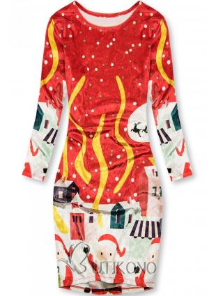 Červené šaty Christmas Time
