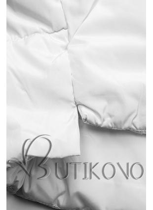 Biela zimná bunda s brmbolcami