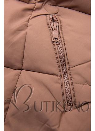 Staroružová zimná bunda s kapucňou