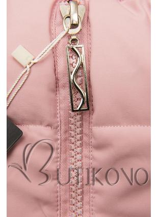 Zimná prešívaná bunda ružová