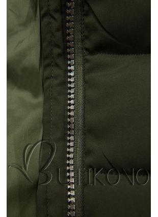Zimná prešívaná bunda khaki