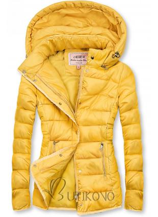 Žltá prešívaná bunda na prechodné obdobie