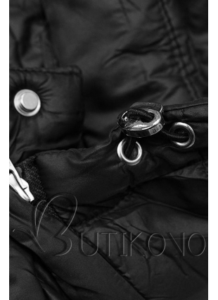 Čierna prešívaná bunda na prechodné obdobie