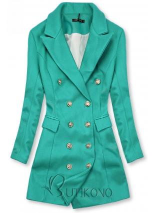 Elegantný jesenný kabát zelený