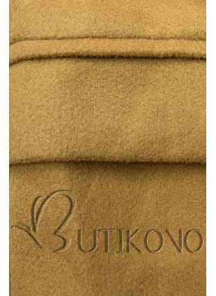 Elegantný jesenný kabát hnedý