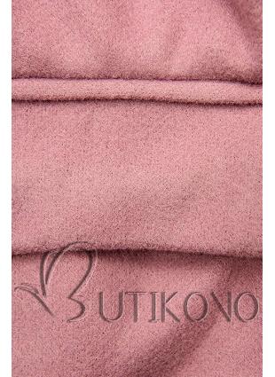 Elegantný jesenný kabát ružový
