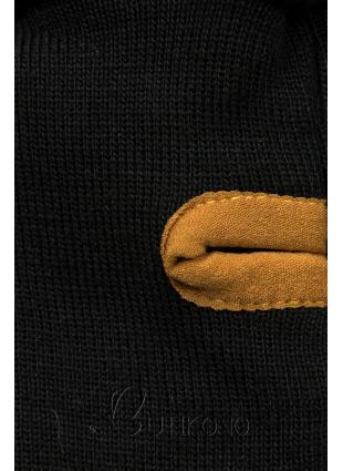 Pruhovaná mikina čierna