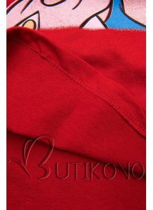 Červené tričko Paperina e Paperino