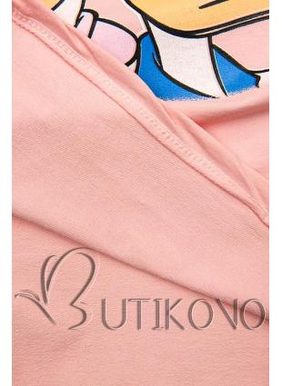 Ružové tričko Paperina e Paperino