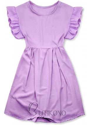 Fialové letné šaty z viskózy
