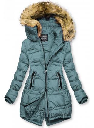 Tyrkysovozelená prešívaná bunda na jeseň/zimu