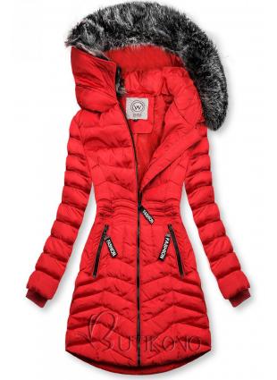 Červená zimná bunda FASHION