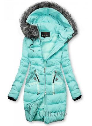 Zimná prešívaná bunda azúrová