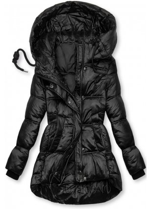 Čierna lesklá bunda