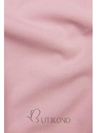 Ružový top s dlhými rukávmi