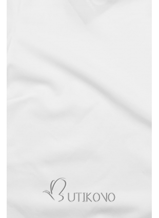 Biely top s dlhými rukávmi