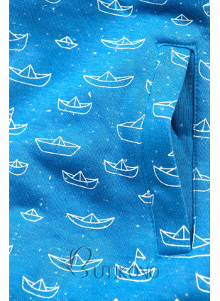 Modrá mikina s námorníckym motívom
