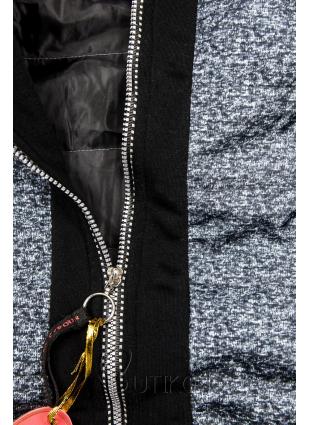 Čierna kombinovaná mikina/bunda