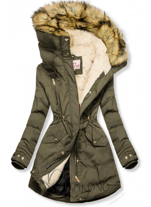 Zimná parka khaki