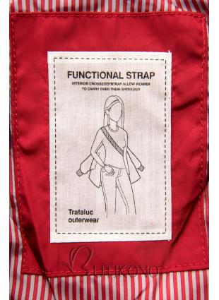 Červená prešívaná bunda na jeseň/zimu