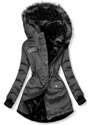 Sivá obojstranná zimná bunda