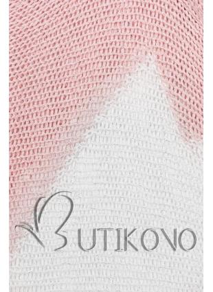Ružový pulóver s netopierími rukávmi