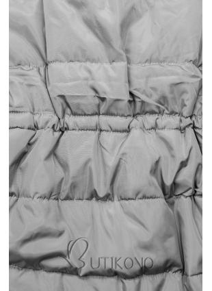 Sivá zimná bunda s predĺženými rukávmi