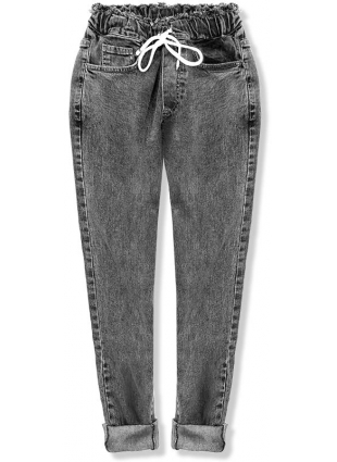 Čierne denimové nohavice