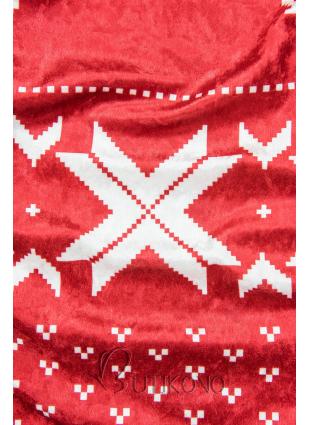 Červené zamatové vianočné šaty