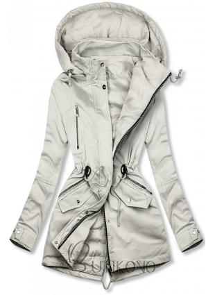 Obojstranná jarná bunda v sivej farbe