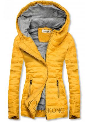 Žltá ľahká prešívaná bunda