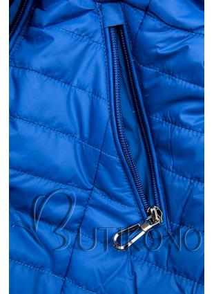 Modrá bunda s kvetinovou podšívkou od LHD