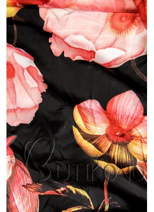 Červená bunda s kvetinovou podšívkou od LHD