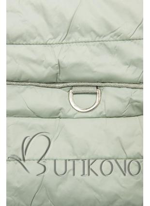 Svetlozelená prešívaná jarná bunda