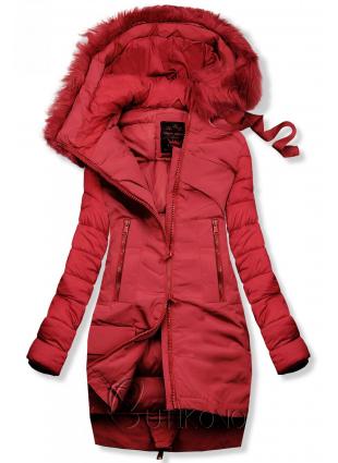 Zimná prešívaná bunda červená