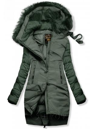 Zimná prešívaná bunda zelená