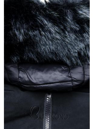 Zimná prešívaná bunda tmavomodrá