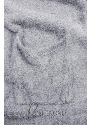 Sivomodrý dlhý kardigán