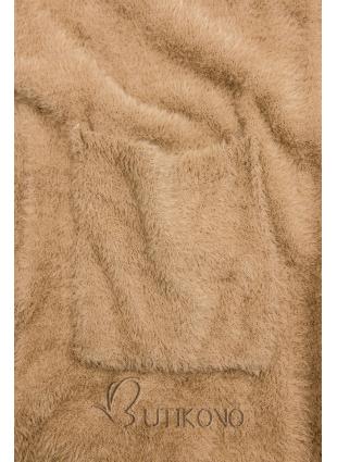 Camel hnedý dlhý kardigán