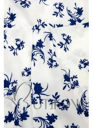 Bielo-modrá košeľa s kvetinovým vzorom