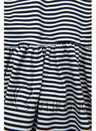 Modro-biele voľné pruhované šaty IV.