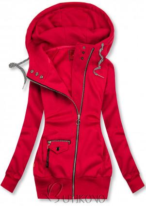 Červená mikina na zips