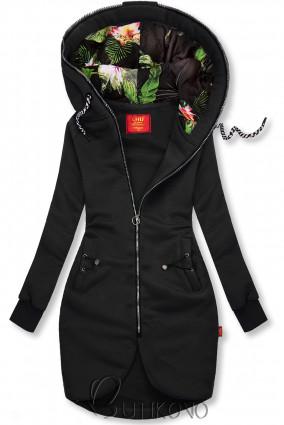 Čierna dlhá mikina