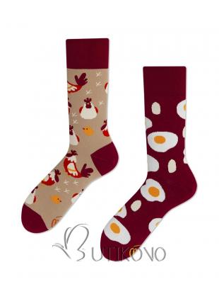 Ponožky Vajce a Sliepka od Many Mornings