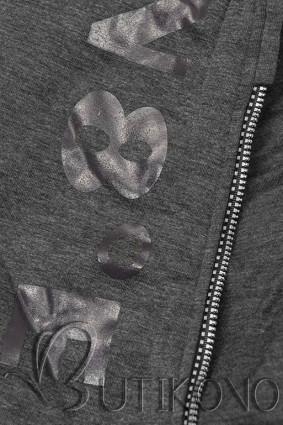 Tepláková súprava s kapucňou grafit/čierna